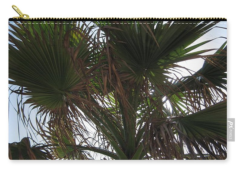 Palm Carry-all Pouch featuring the photograph Palm by Megan Cohen