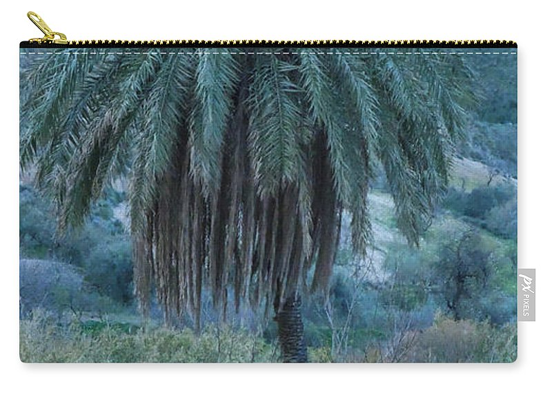 Colette Carry-all Pouch featuring the photograph Palm Tree Almanzora Mountain Spain by Colette V Hera Guggenheim