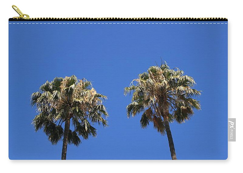 Art Carry-all Pouch featuring the photograph Palm Trees by Frank Romeo