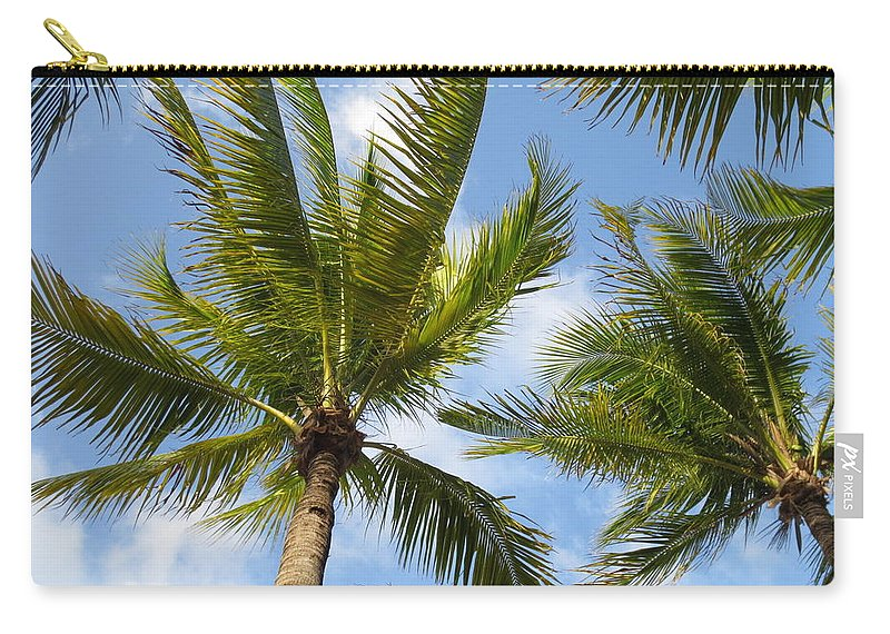 Palm Trees Carry-all Pouch featuring the photograph Palm Trees by Stephanie Bland