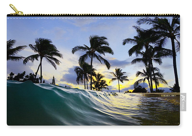 Surf Art Carry-all Pouch featuring the photograph Palm Wave by Sean Davey