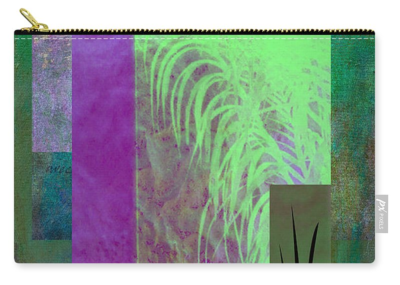 Abstract Carry-all Pouch featuring the photograph Palmier by Linda Dunn