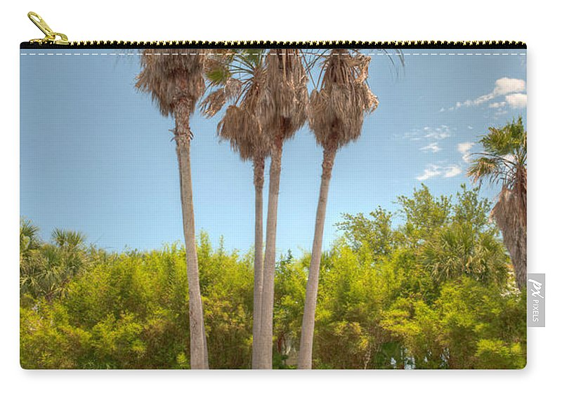 Palms Carry-all Pouch featuring the photograph Palms Of Paradise by Dale Powell
