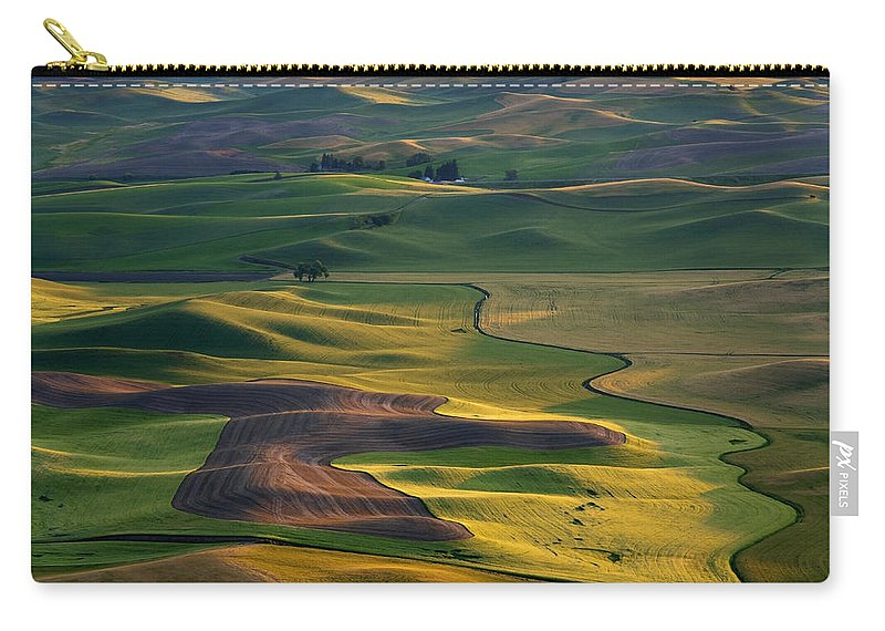 Palouse Carry-all Pouch featuring the photograph Palouse Shadows by Mike Dawson