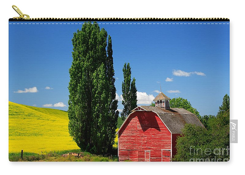 America Carry-all Pouch featuring the photograph Palouse Weathered Barn by Inge Johnsson