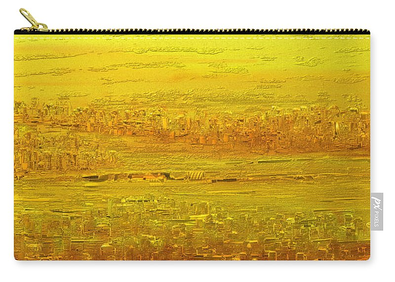 Scenic Carry-all Pouch featuring the painting Panorama 2 by Rabi Khan