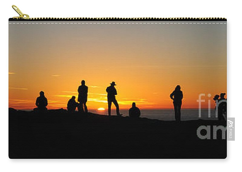 Sunset Carry-all Pouch featuring the photograph Panorama Everyone Likes A Sunset by Vivian Christopher
