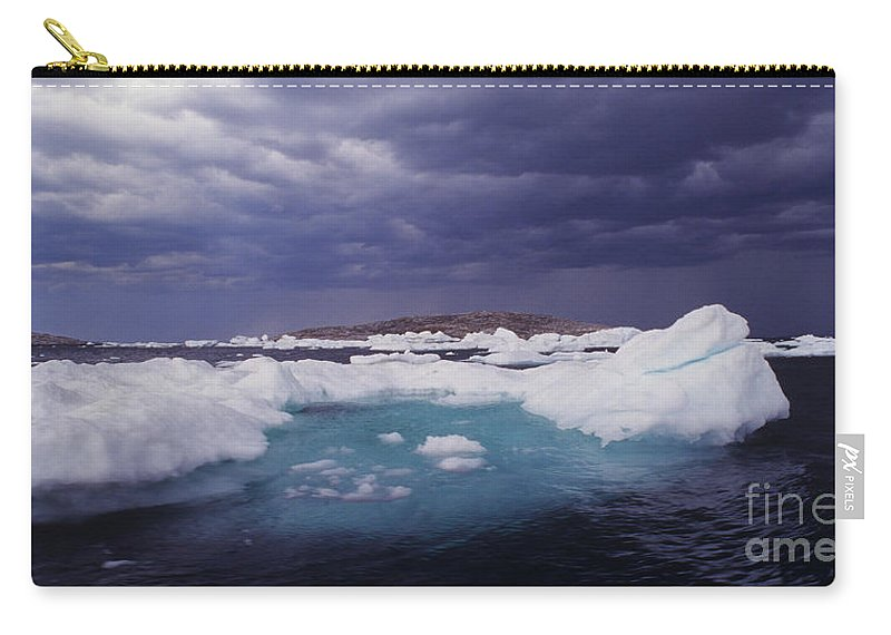 North America Carry-all Pouch featuring the photograph Panorama Ice Floes In A Stormy Sea Wager Bay Canada by Dave Welling