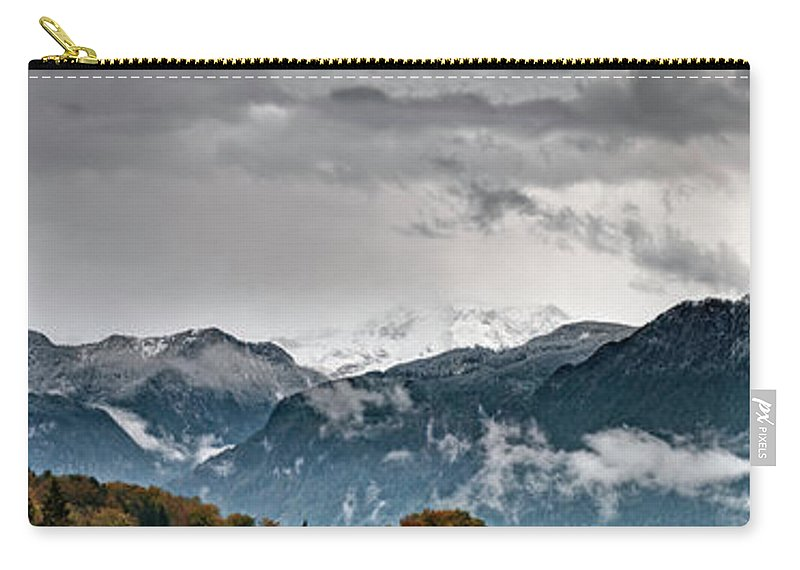 Extreme Terrain Carry-all Pouch featuring the photograph Panorama Of The Berchtesgaden Alps by Delectus