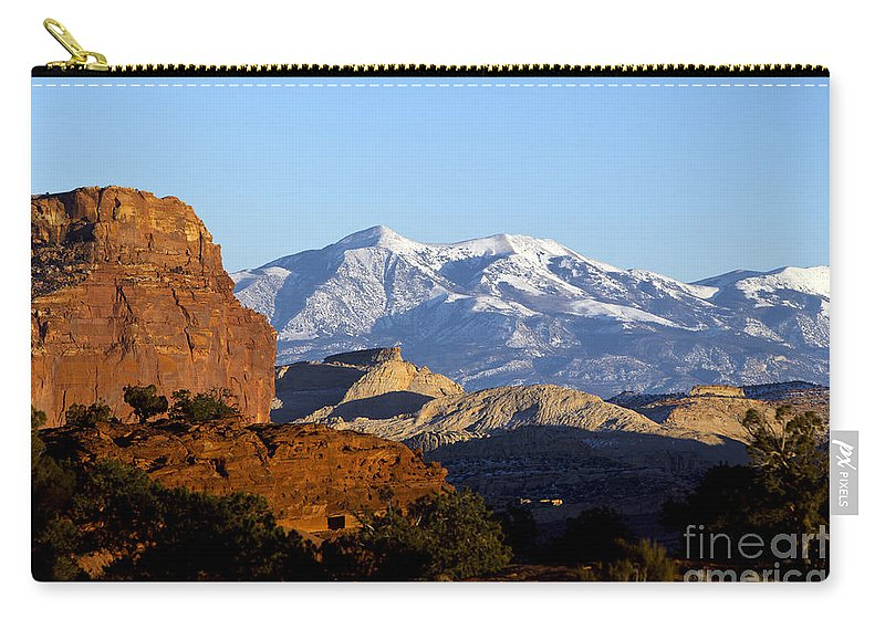 Capitol Reef Carry-all Pouch featuring the photograph Panorama Point Capitol Reef National Park Utah by Jason O Watson