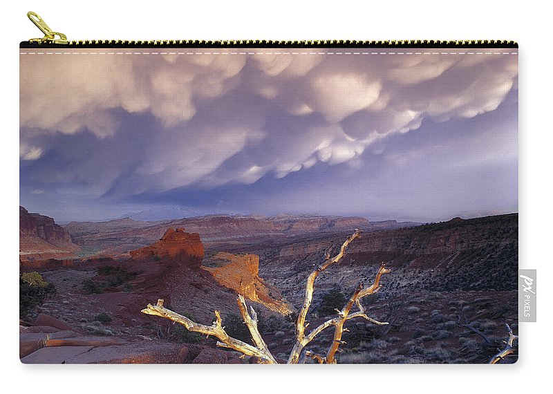 Capitol Reef National Park Carry-all Pouch featuring the photograph Panorama Point by Leland D Howard