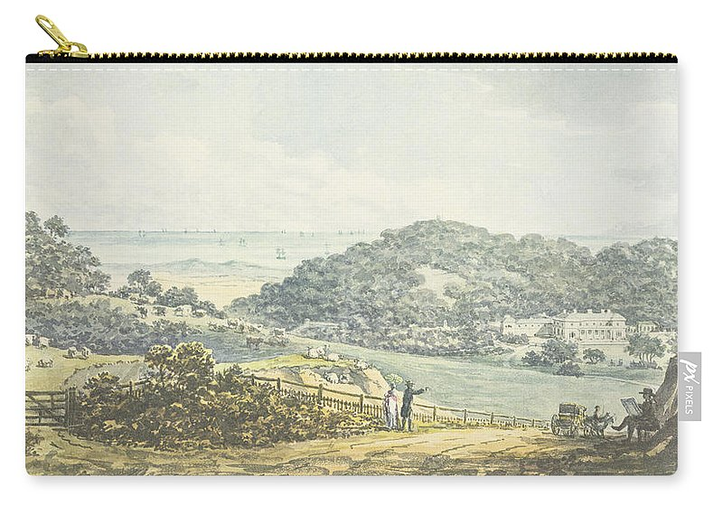 Countryside Carry-all Pouch featuring the drawing Panoramic After View, From The Red Book by Humphry Repton