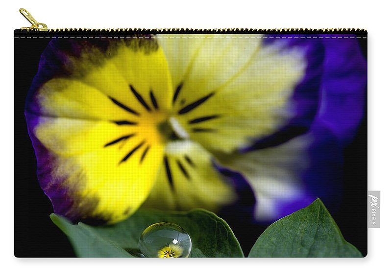 Fresh Carry-all Pouch featuring the photograph Pansy Close Up by Mark Duffy
