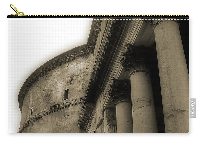 Pantheon Carry-all Pouch featuring the photograph Pantheon by Angela DeFrias