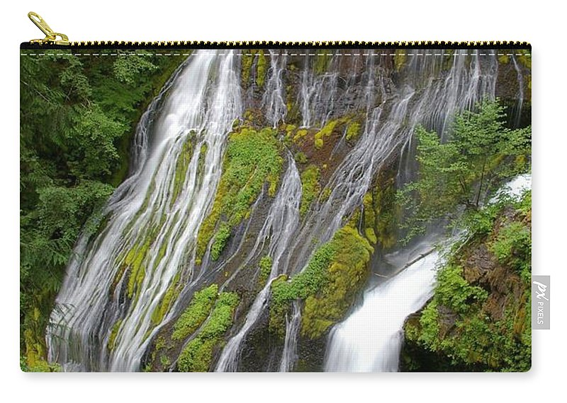 Big Lava Bed Carry-all Pouch featuring the photograph Panther Creek Falls 2- Washington by Rick Bures