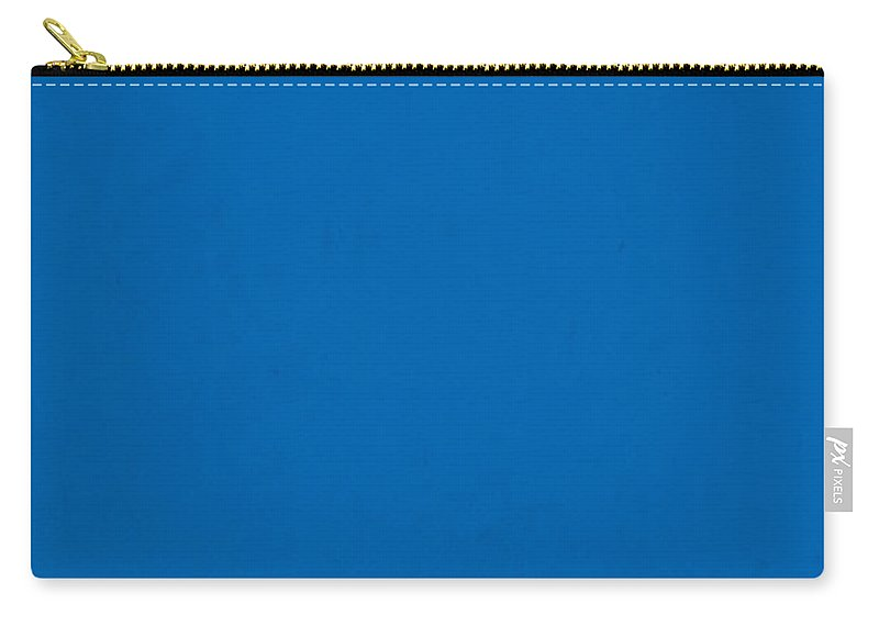 Pantone Carry-all Pouch featuring the mixed media Pantone 285 Clear Sky Blue Color On Worn Canvas by Design Turnpike