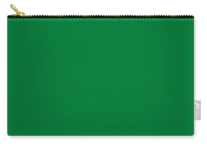 Pantone Carry-all Pouch featuring the mixed media Pantone 348 Forest Green Color On Worn Canvas by Design Turnpike