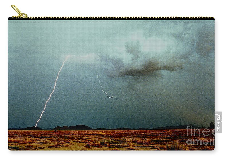 Lightning Carry-all Pouch featuring the photograph Tohono O'odham Reservation by J L Woody Wooden