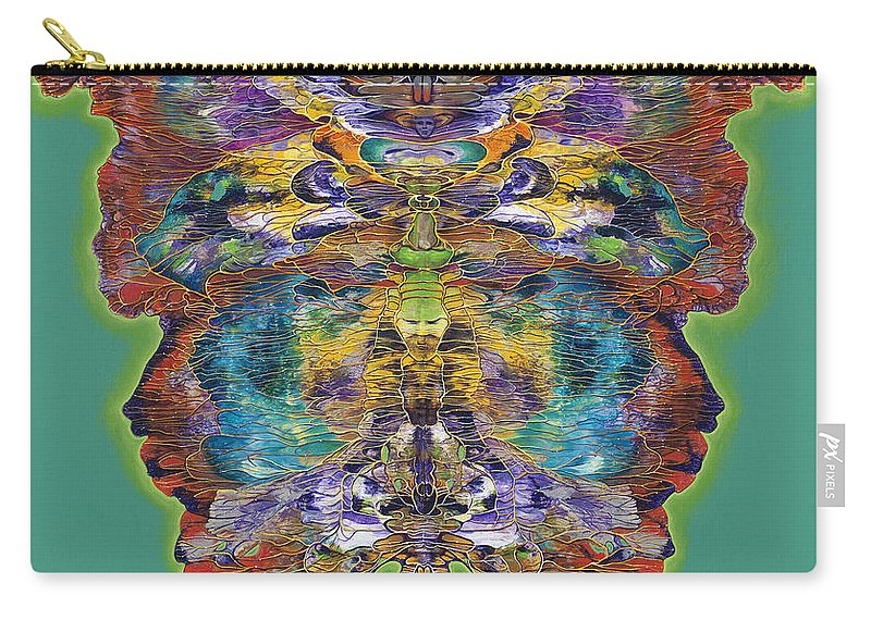 Butterfly Carry-all Pouch featuring the painting Papalotl Series Vlll by Ricardo Chavez-Mendez