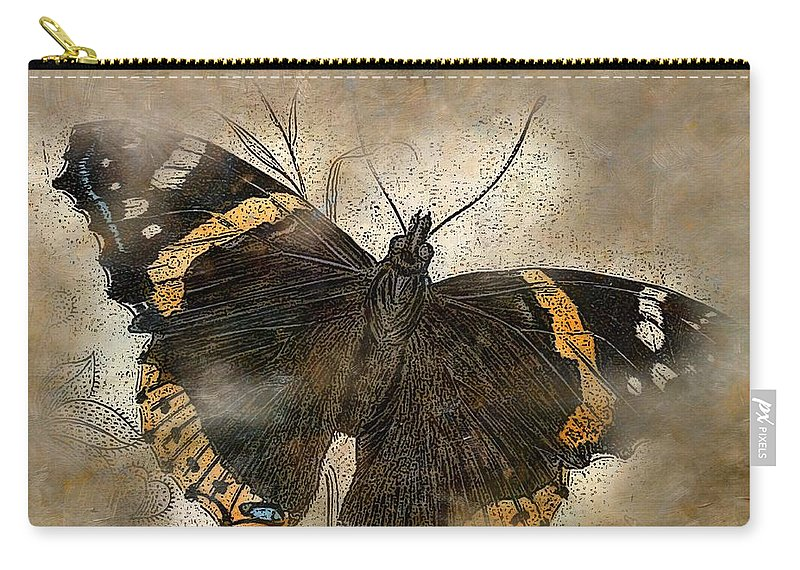 Butterfly Carry-all Pouch featuring the painting Papillon 2 by George Pedro