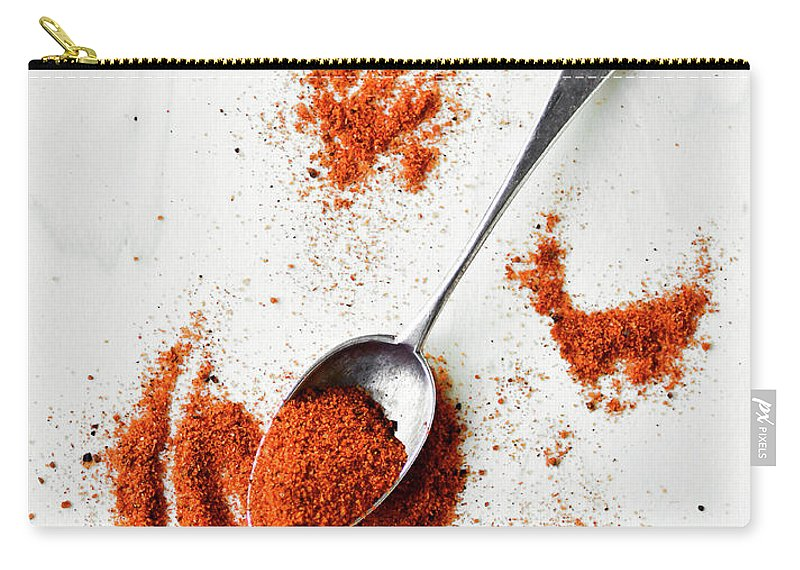 Atlanta Carry-all Pouch featuring the photograph Paprika Powder In A Spoon by Natalia Ganelin