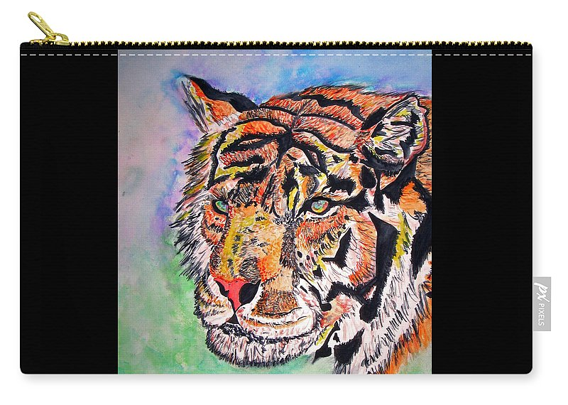Abstract Carry-all Pouch featuring the painting Paradise Dream by Crystal Hubbard