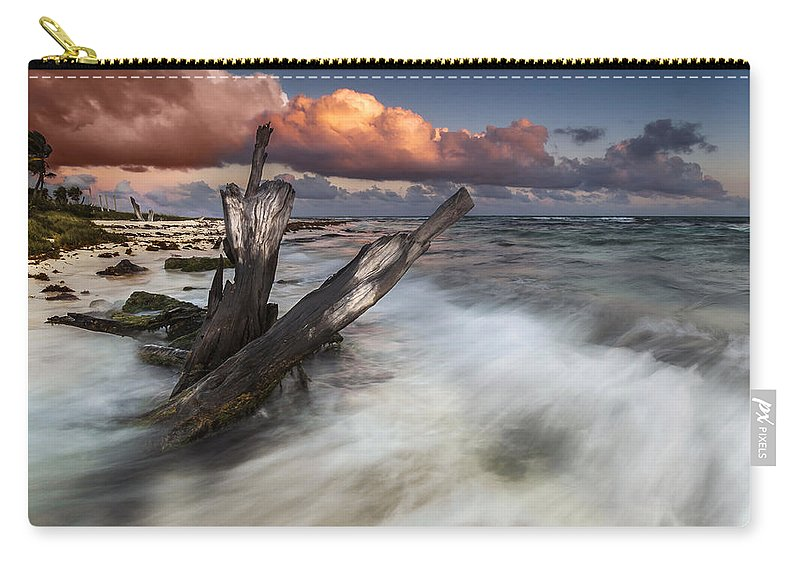 Sunset Carry-all Pouch featuring the photograph Paradise Lost by Mihai Andritoiu