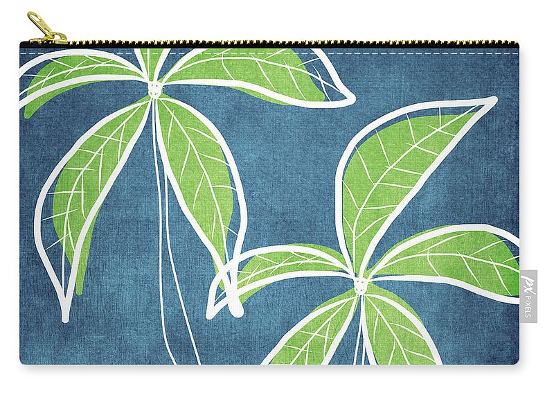 Palm Trees Carry-all Pouch featuring the painting Paradise Palm Trees by Linda Woods