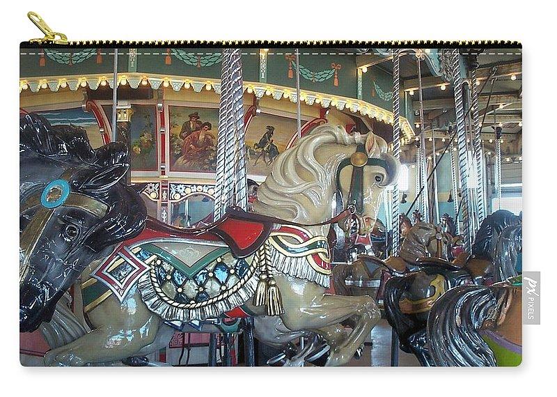 Carousel Carry-all Pouch featuring the photograph Paragon Carousel Nantasket Beach by Barbara McDevitt