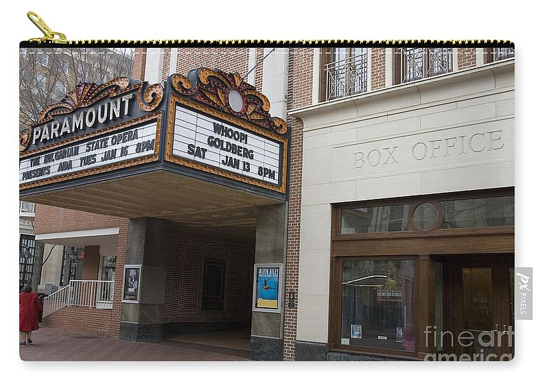 Charlottesville Carry-all Pouch featuring the photograph Paramount Theater by Jason O Watson