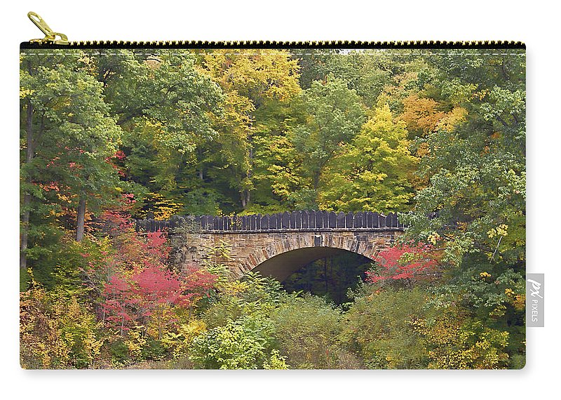Ancient Carry-all Pouch featuring the photograph Parapet Bridge by Jack R Perry