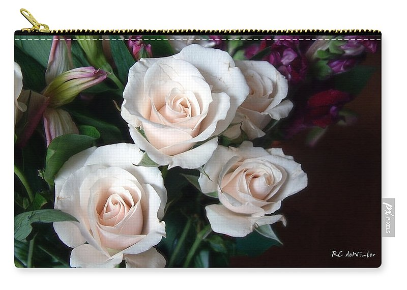 Flowers Carry-all Pouch featuring the photograph Pardon My Blush by RC deWinter