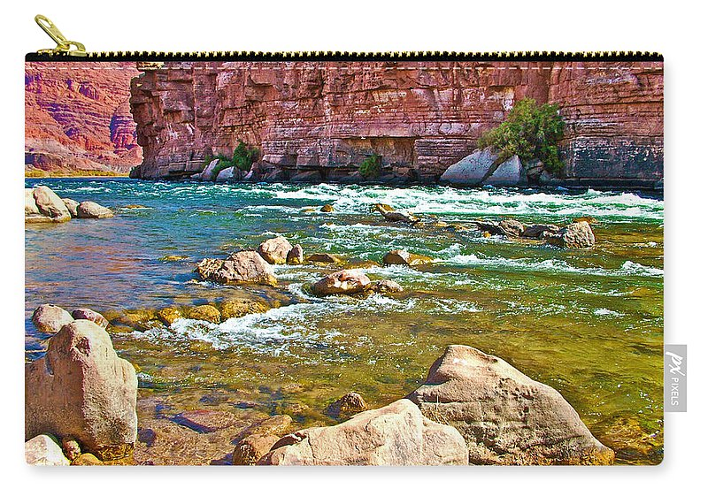Pariah Riffle Near Lee's Ferry In Glen Canyon National Recreation Area Carry-all Pouch featuring the photograph Pariah Riffle Near Lee's Ferry In Glen Canyon National Recreation Area-arizona by Ruth Hager