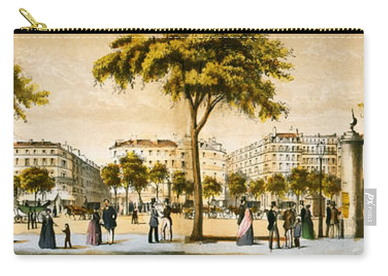 Old Carry-all Pouch featuring the photograph Paris 1878 by Mountain Dreams