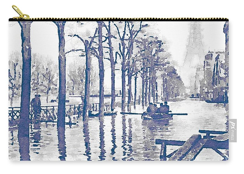 paris 1910 great flood of paris carry all pouch for sale by helge
