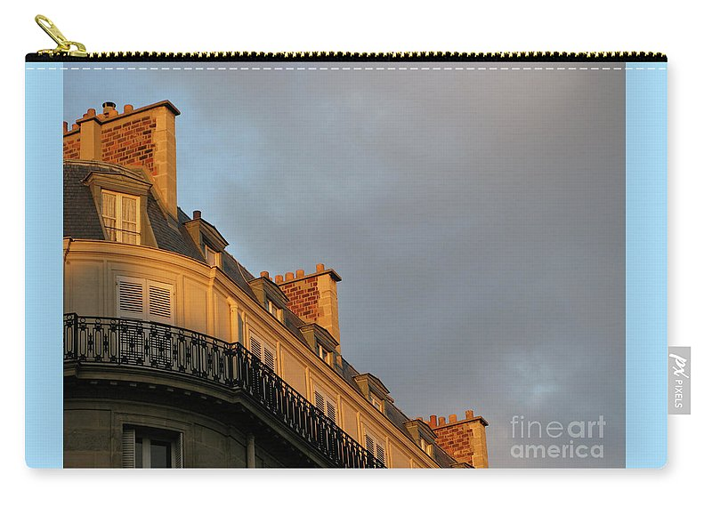 Paris Carry-all Pouch featuring the photograph Paris At Sunset by Ann Horn