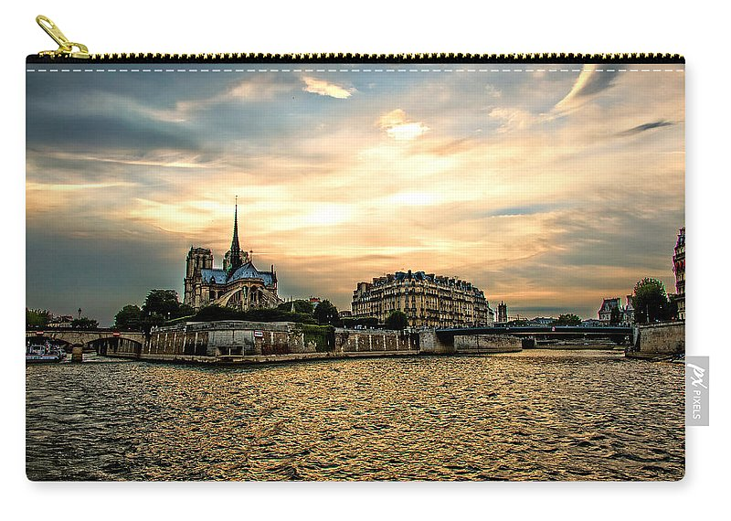 Paris Carry-all Pouch featuring the photograph Paris At Sunset by Bill Howard