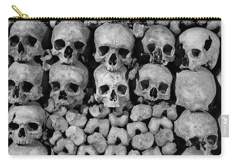 Bone Carry-all Pouch featuring the photograph Paris Catacombs by Inge Johnsson