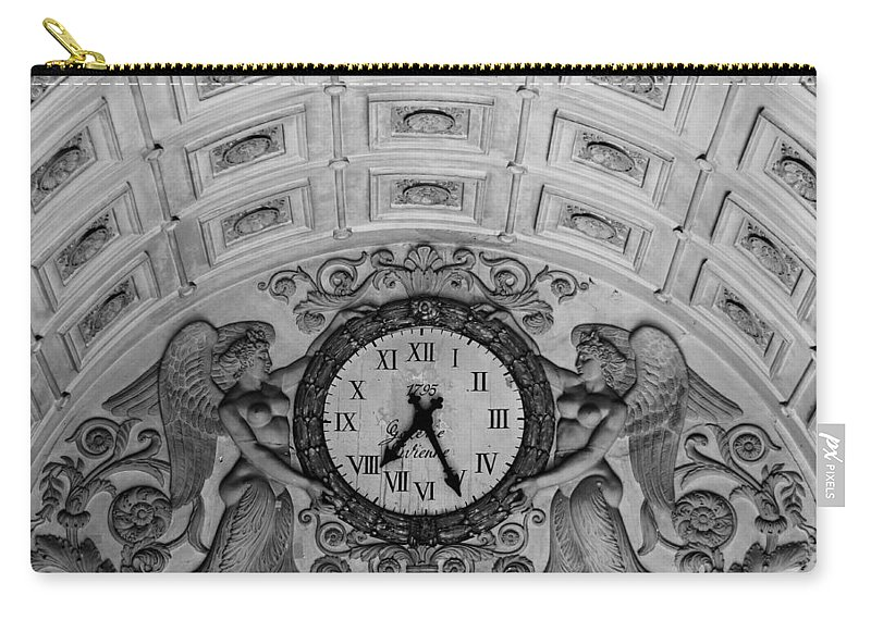 Paris Carry-all Pouch featuring the photograph Paris Clocks 3 by Andrew Fare