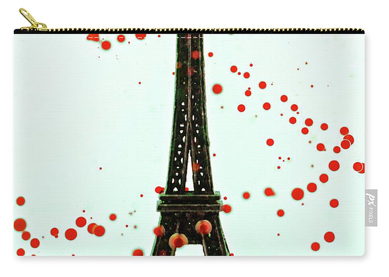 Replica Eiffel Tower Carry-all Pouch featuring the photograph Paris by Dina Belenko Photography