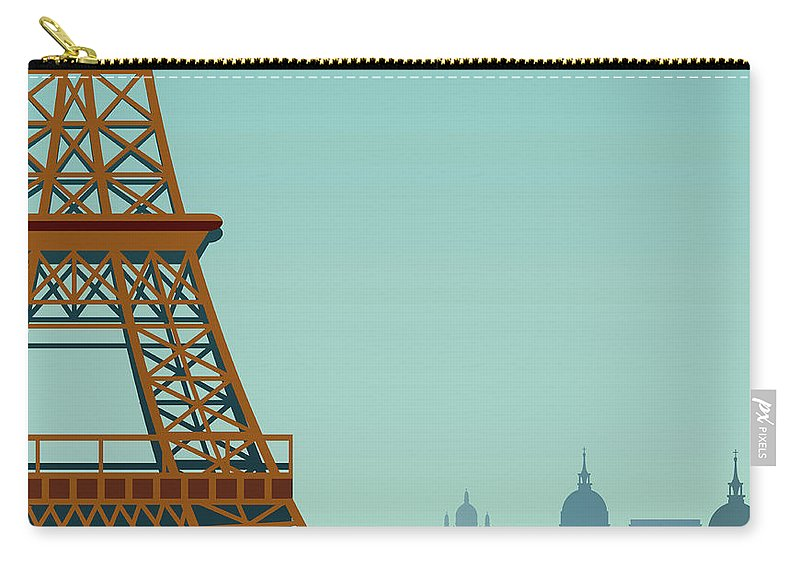 Built Structure Carry-all Pouch featuring the digital art Paris by Drmakkoy