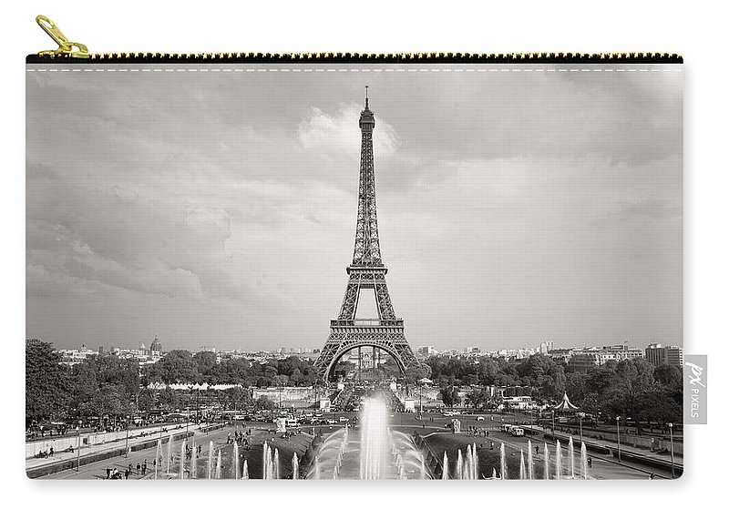 Eiffel Tower Carry-all Pouch featuring the photograph Paris Eiffel Tower by For Ninety One Days