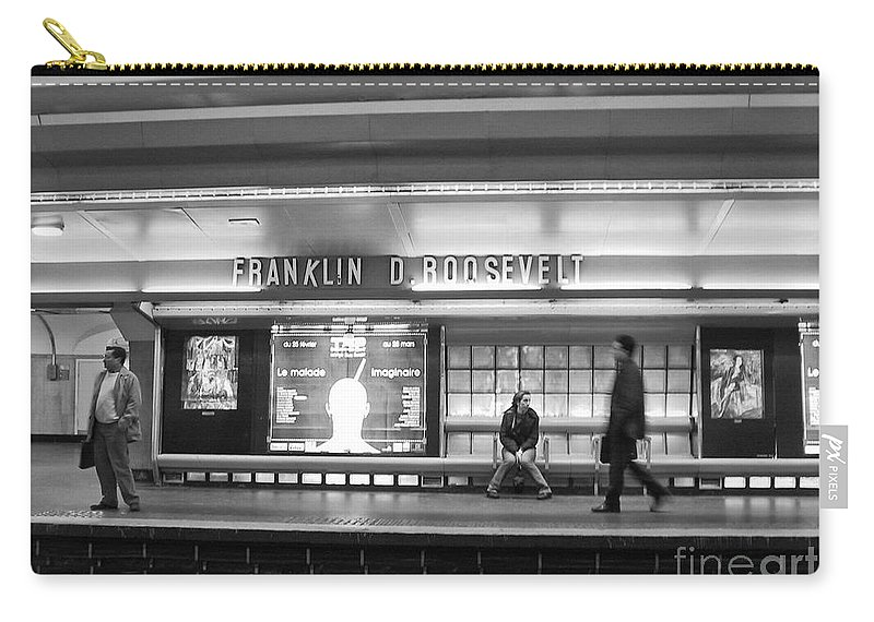 Paris Carry-all Pouch featuring the photograph Paris Metro - Franklin Roosevelt Station by Thomas Marchessault