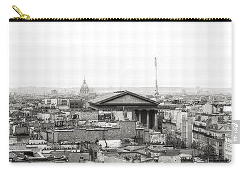 Paris Carry-all Pouch featuring the photograph Paris Panorama by For Ninety One Days