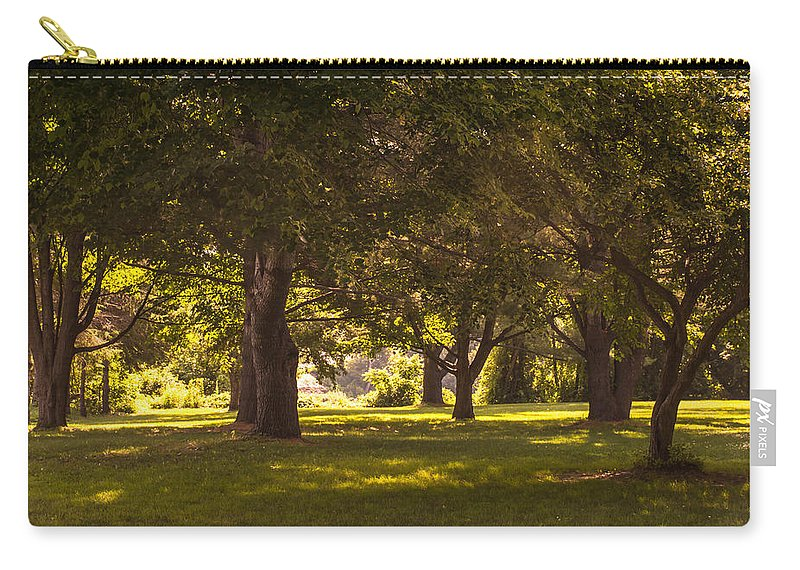 Park Carry-all Pouch featuring the photograph Park By The Rivers by Sherman Perry