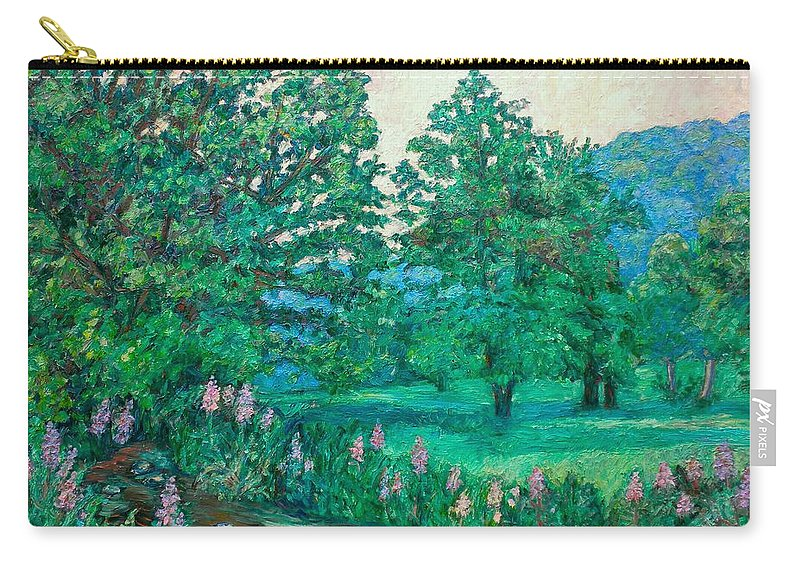 Landscape Carry-all Pouch featuring the painting Park Road In Radford by Kendall Kessler