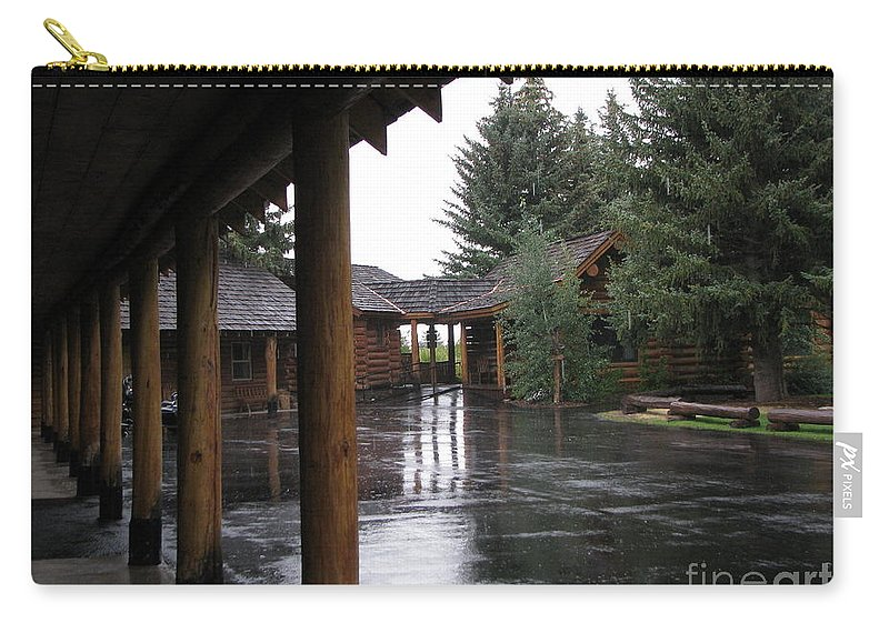 Patzer Carry-all Pouch featuring the photograph Parking Lot by Greg Patzer