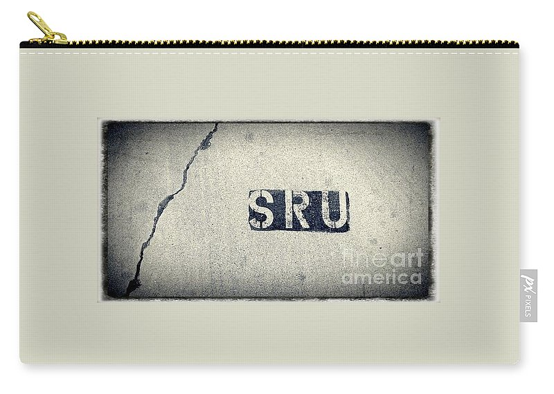 Street Snapshot Carry-all Pouch featuring the photograph Parking-lot No.45 by Fei A