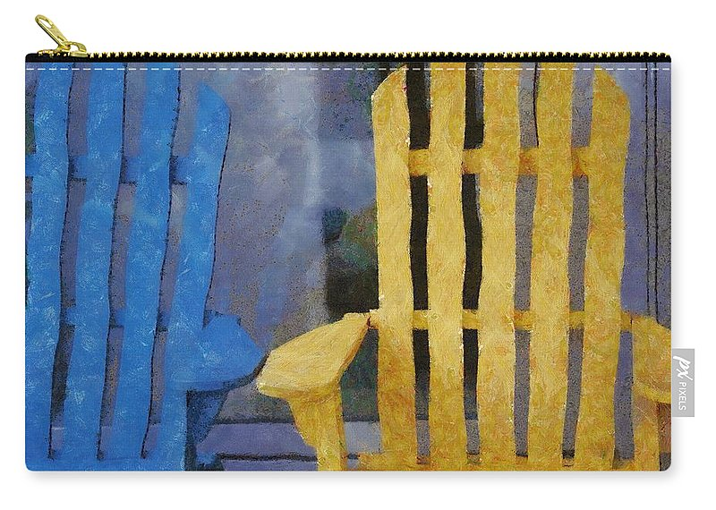 Chair Carry-all Pouch featuring the painting Parking Spot by Jeffrey Kolker