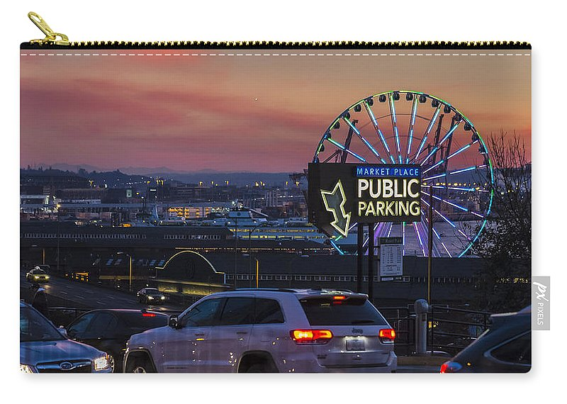 Ferris Wheel Carry-all Pouch featuring the photograph Parking Wheel by Scott Campbell